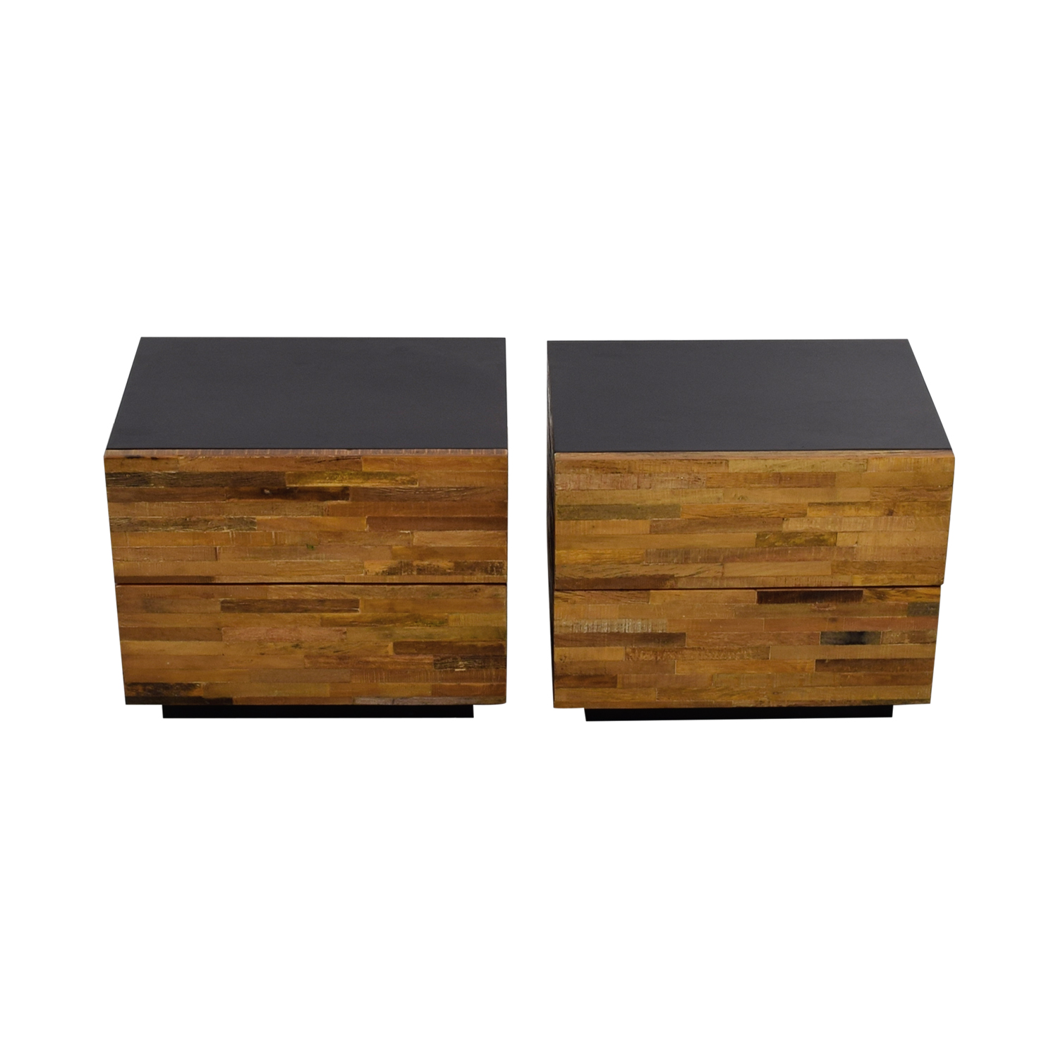Environment Furniture Santomer Rustic Two-Drawer Side Tables sale