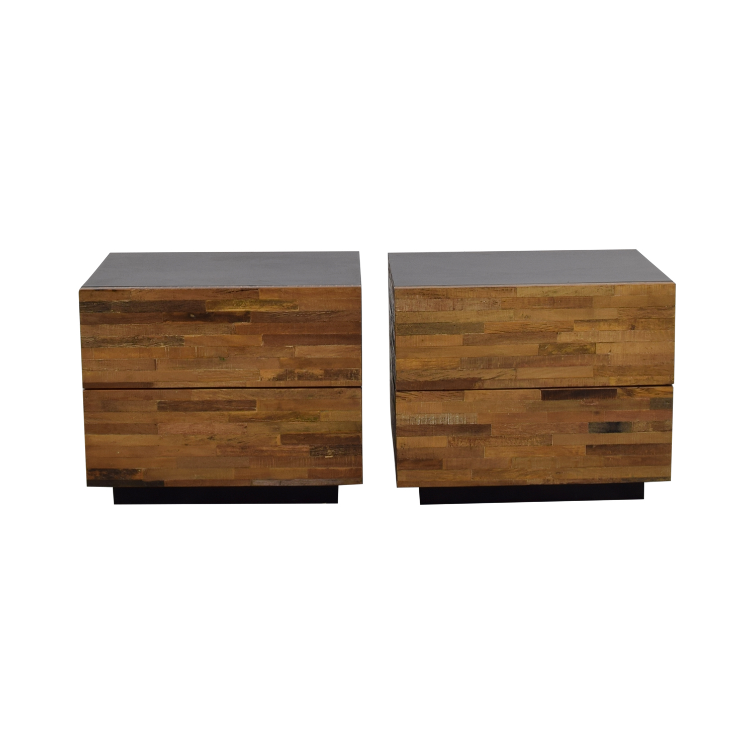 buy Environment Furniture Environment Furniture Santomer Rustic Two-Drawer Side Tables online