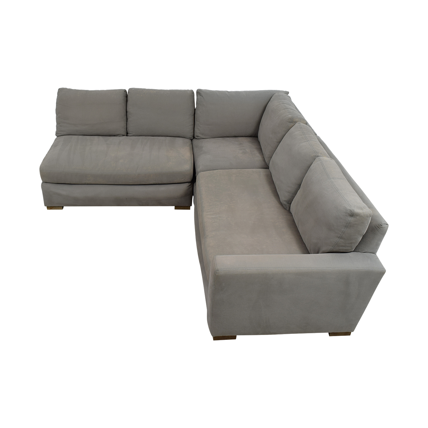 buy Restoration Hardware Restoration Hardware Grey L-Shaped Sectional online