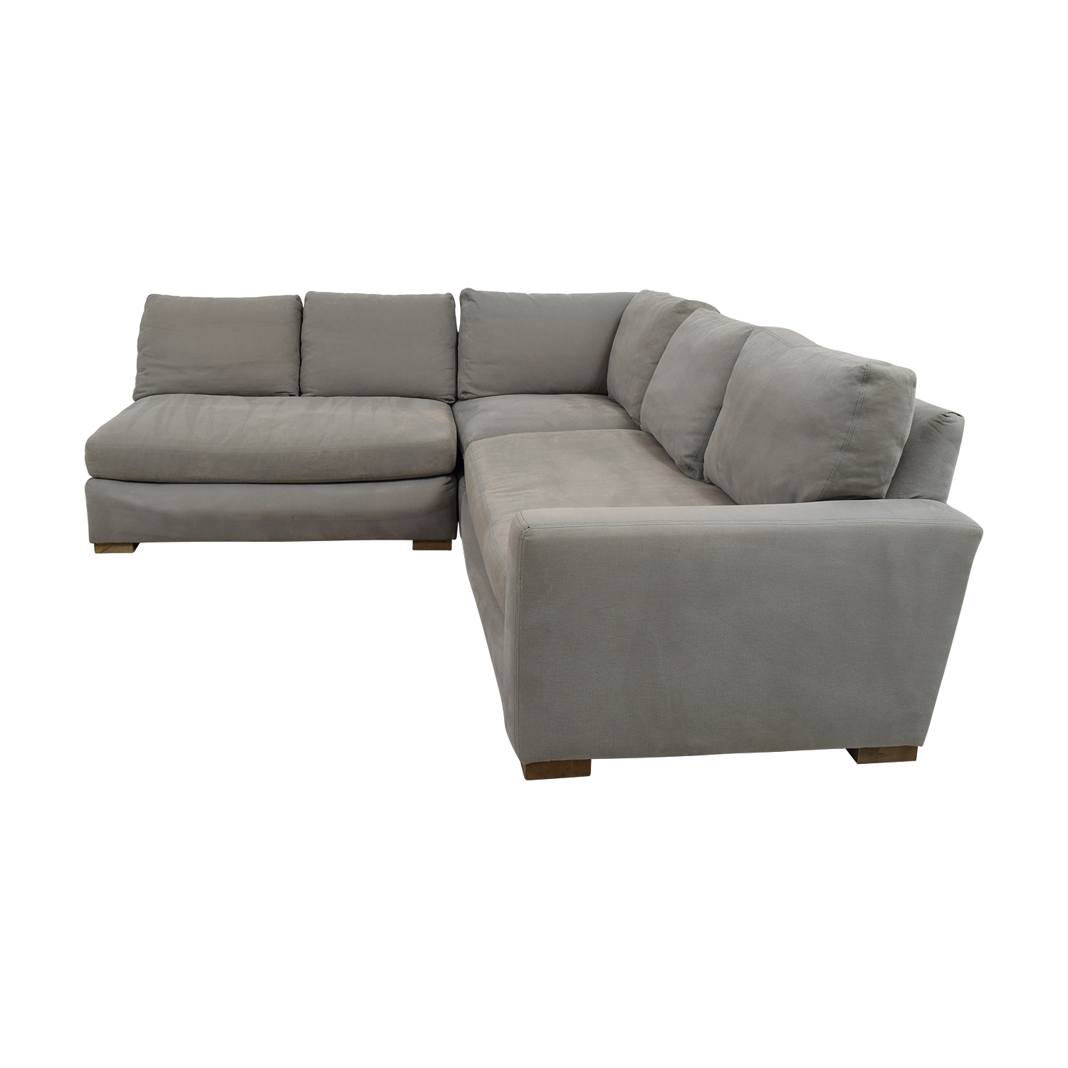 Restoration Hardware Restoration Hardware Grey L-Shaped Sectional Sofas