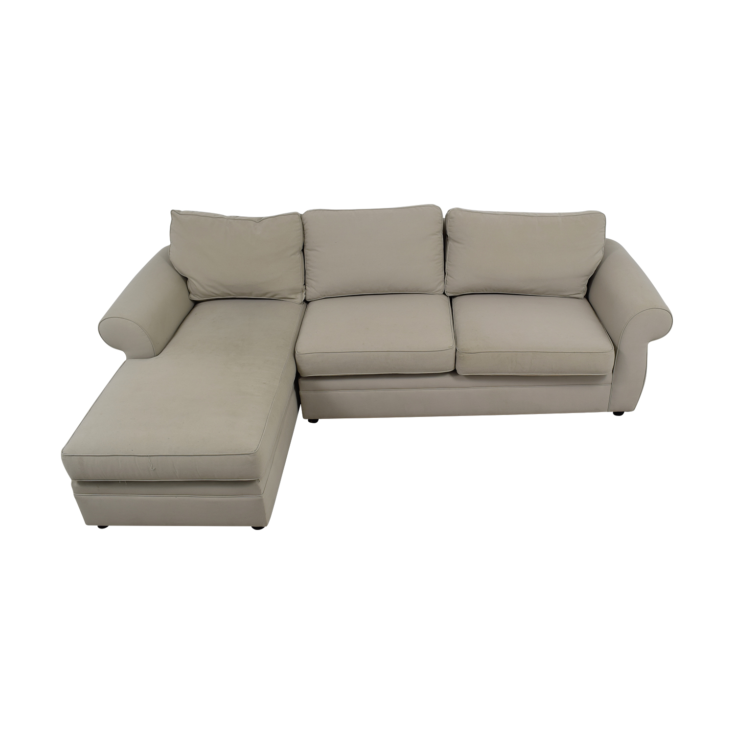 Pottery Barn Townsend Cream Upholstered Chaise Sectional / Sectionals