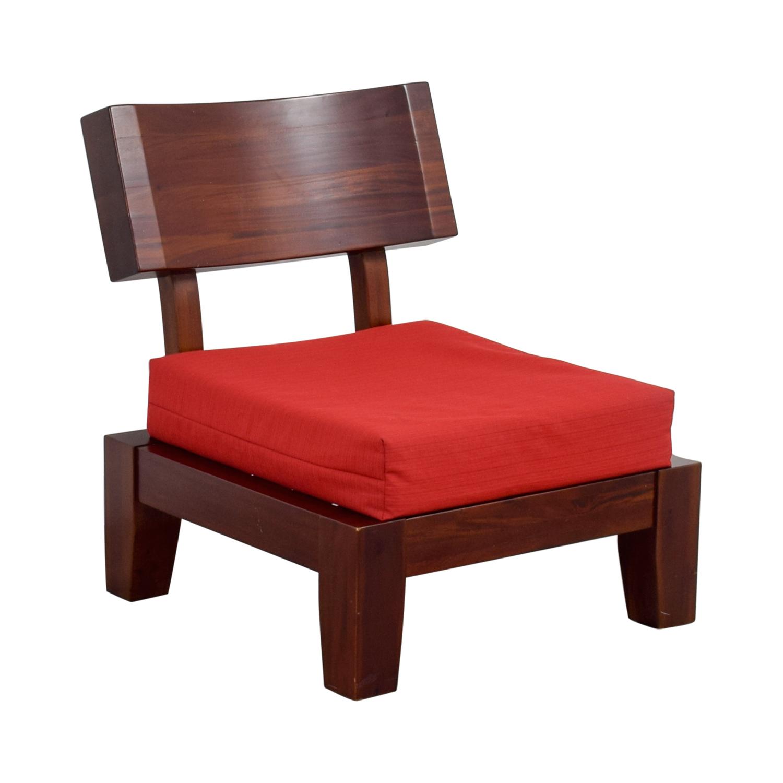 Wonderful ... Haverty Red Wood Sleeper Chair Haverty ...