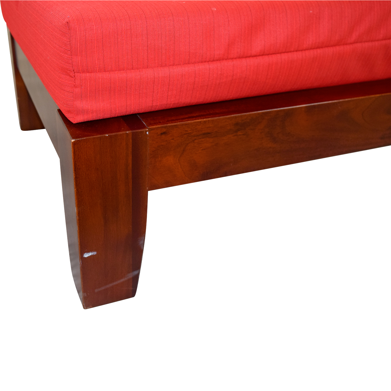... Haverty Haverty Red Wood Sleeper Chair Used