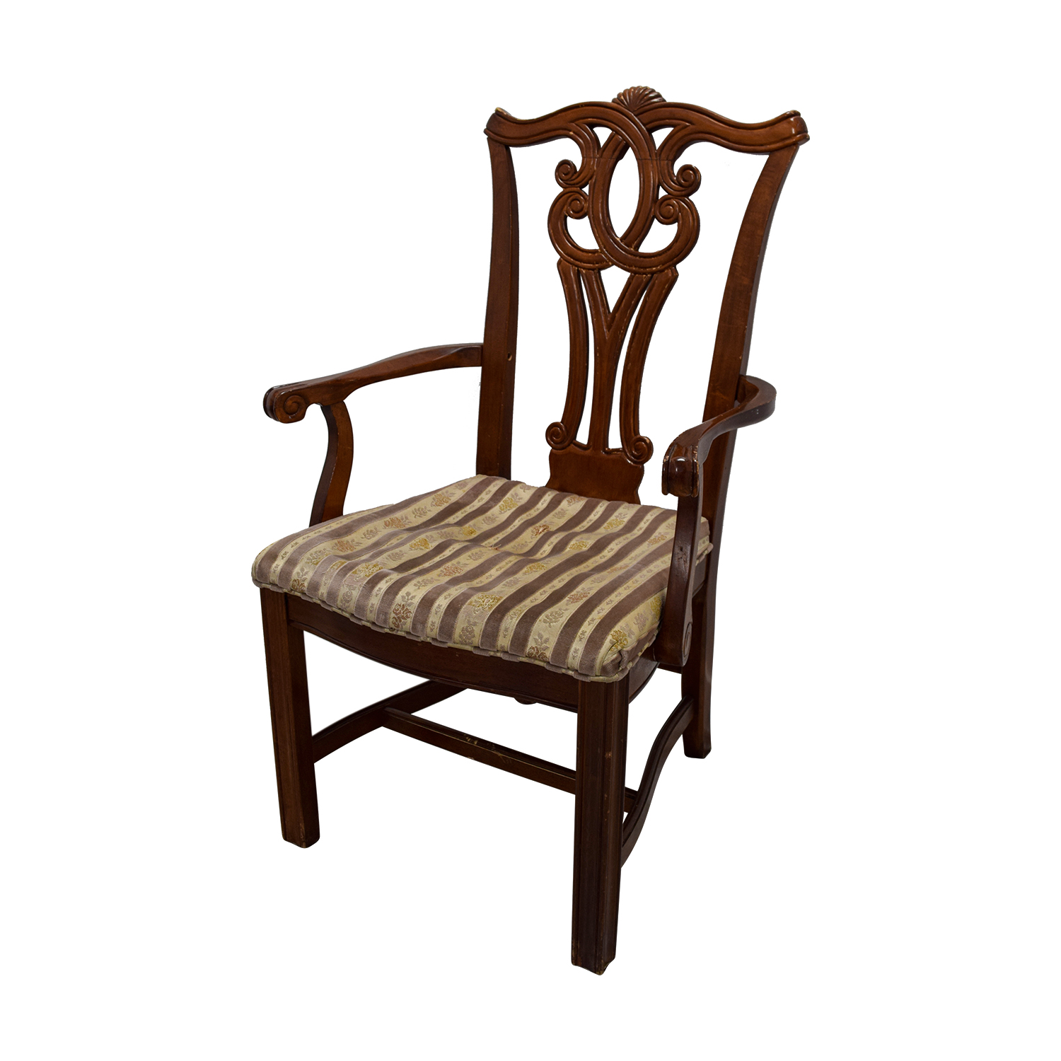 ... Carved Wood Dining Set With Two Extensions And Eight Chairs On Sale ...
