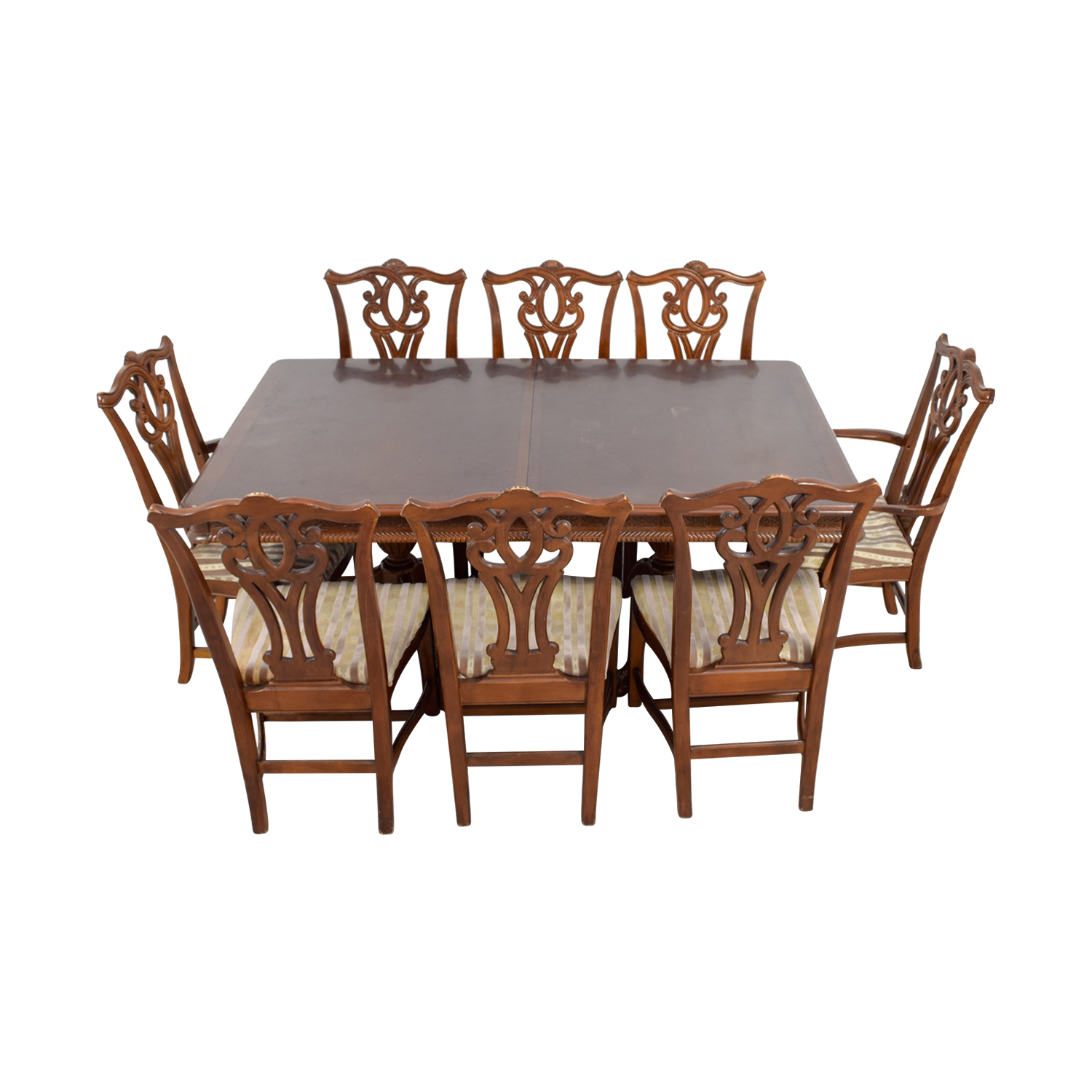 85 off carved wood dining set with two extensions and for 85 dining table