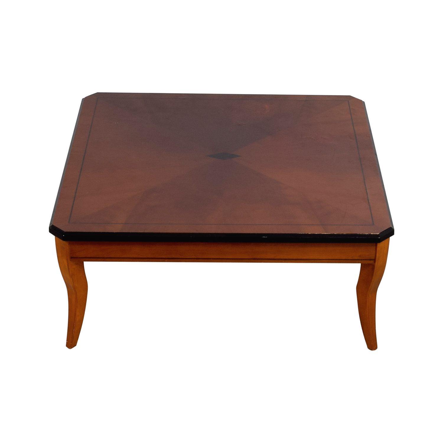 Cherry Wood Square Coffee Table