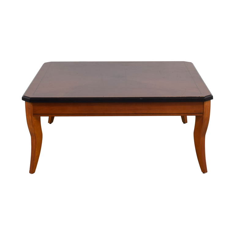 Cherry Wood Square Coffee Table Tables