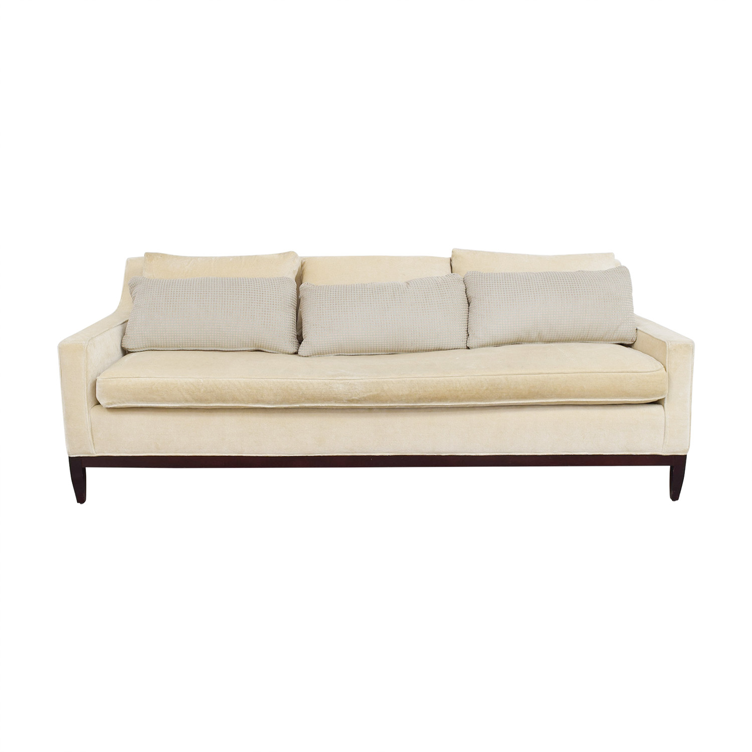 Custom Single Cushion Beige Couch Online