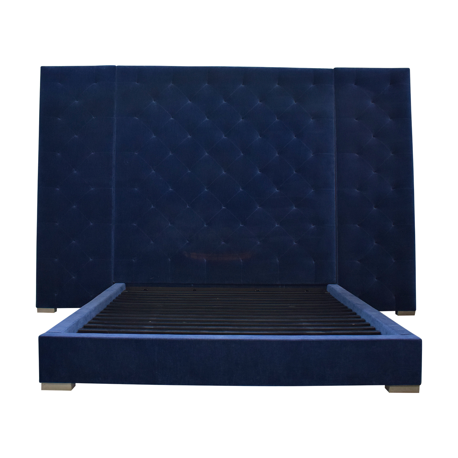buy Restoration Hardware Blue Tufted King Platform Bed Frame Restoration Hardware Sofas