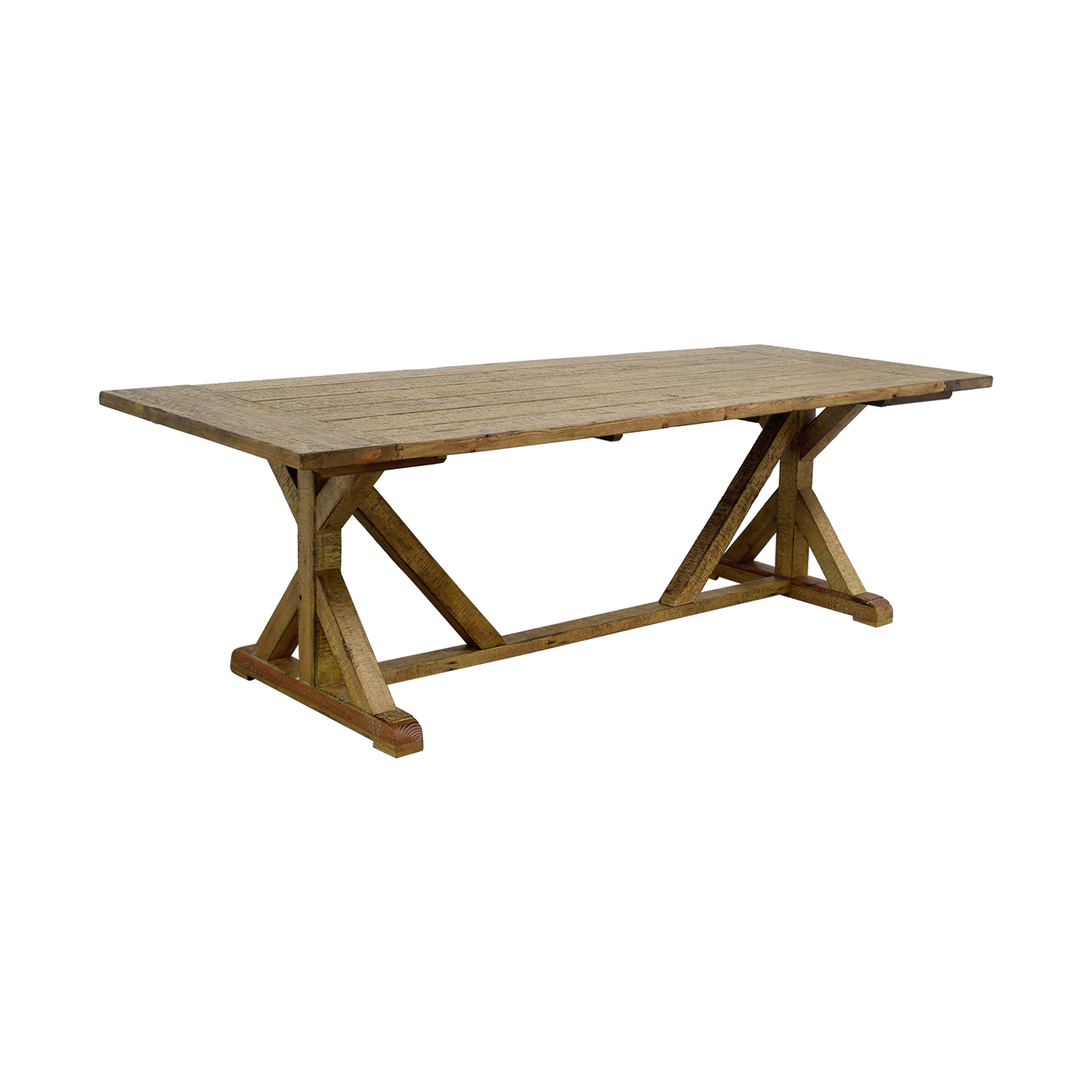 34 off inspire q inspire q paloma rustic reclaimed wood for Rustic trestle dining table