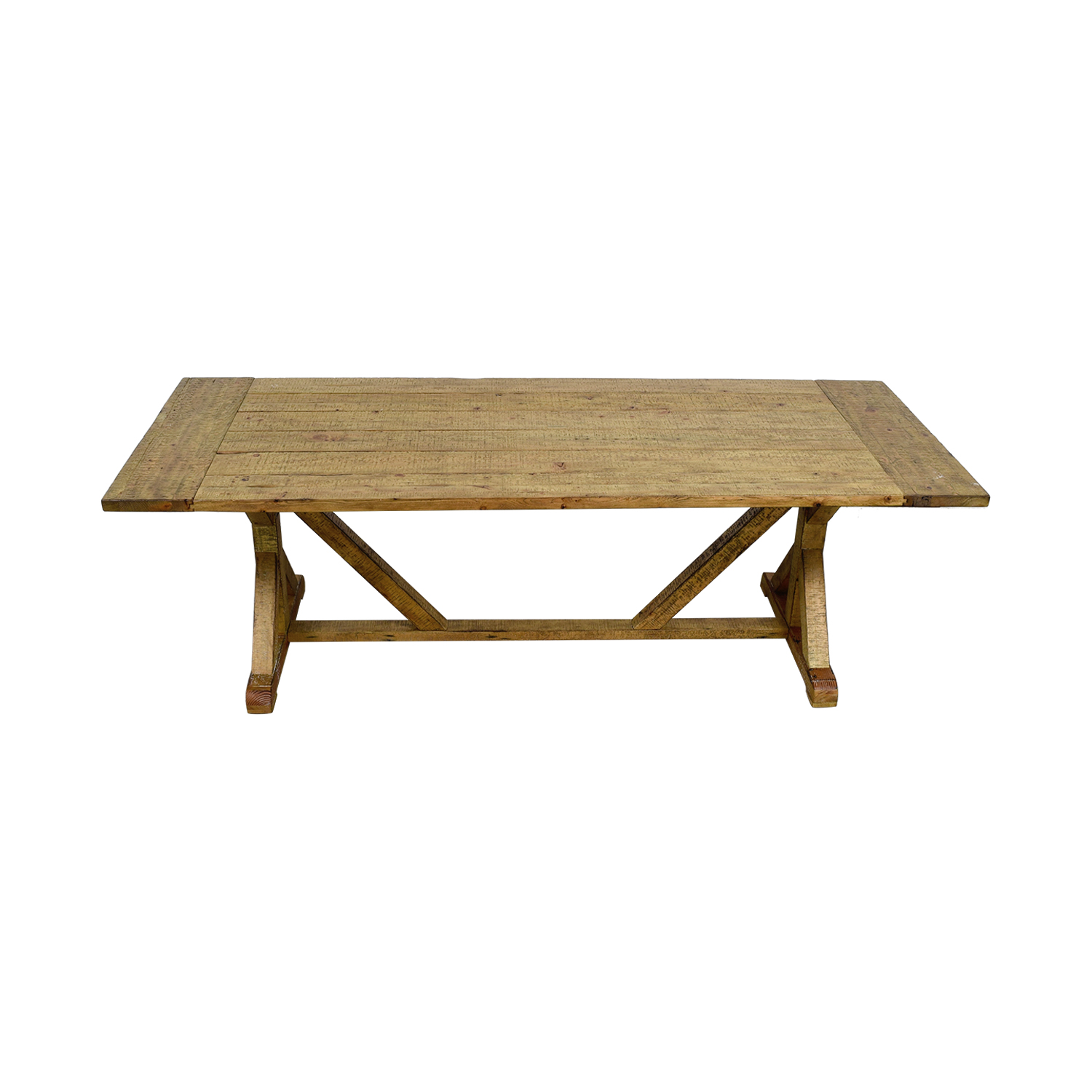 iNSPIRE Q Paloma Rustic Reclaimed Wood Rectangular Trestle Farm Table iNSPIRE Q