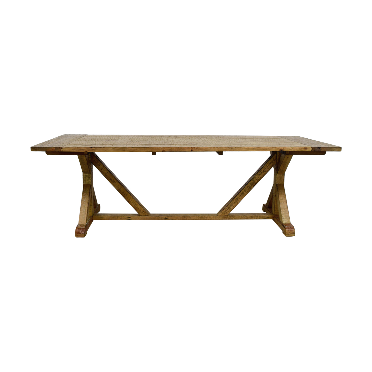 shop iNSPIRE Q Paloma Rustic Reclaimed Wood Rectangular Trestle Farm Table iNSPIRE Q Dinner Tables