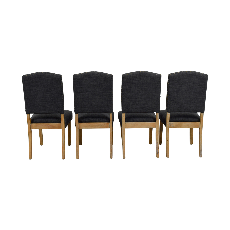iNSPIRE Q Artisan iNSPIRE Q Artisan Benchwright Nailhead Grey Upholstered Dining Chairs