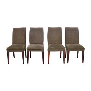 shop Restoration Hardware Olive Green Dining Chairs Restoration Hardware