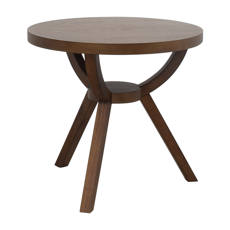 61 off west elm west elm round wood arc table tables. Black Bedroom Furniture Sets. Home Design Ideas