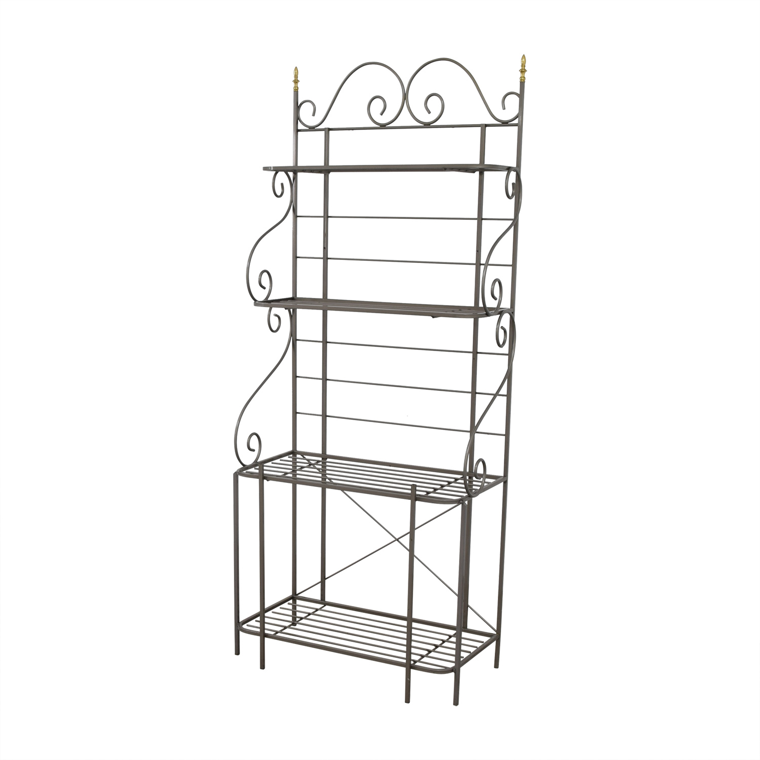 Foremost Furniture Foremost Furniture Grey Metal Bakers Rack Price