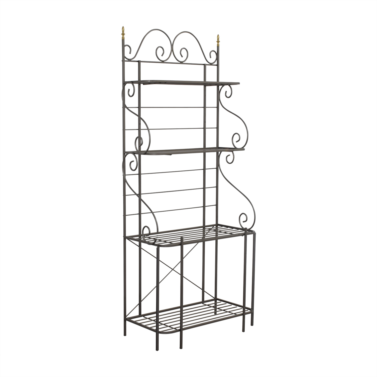 Ordinaire ... Shop Foremost Furniture Grey Metal Bakers Rack Foremost Furniture ...