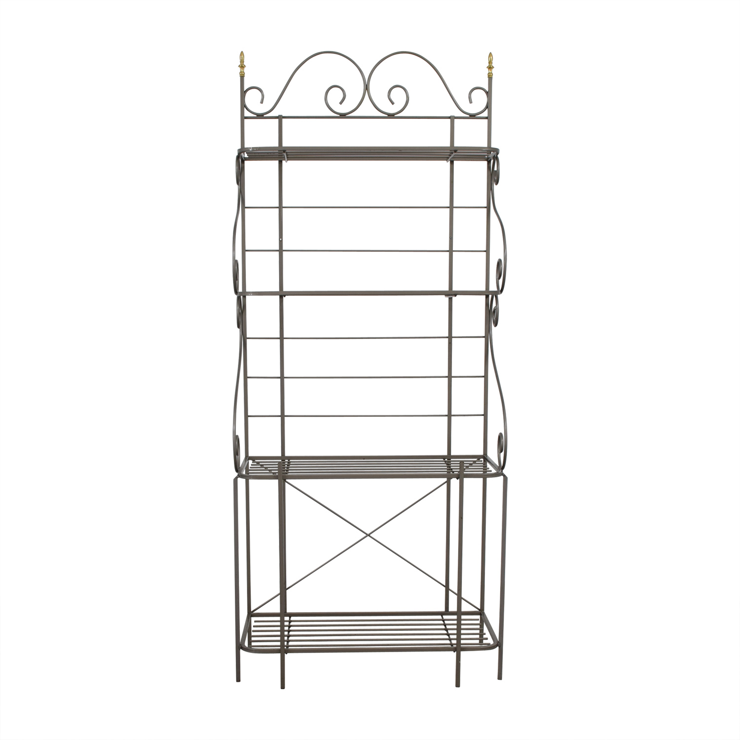 Foremost Furniture Foremost Furniture Grey Metal Bakers Rack For Sale