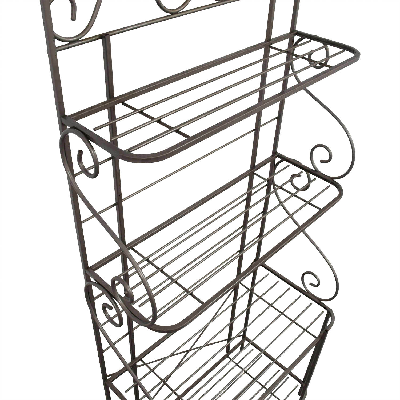 Buy Foremost Furniture Grey Metal Bakers Rack Foremost Furniture Storage