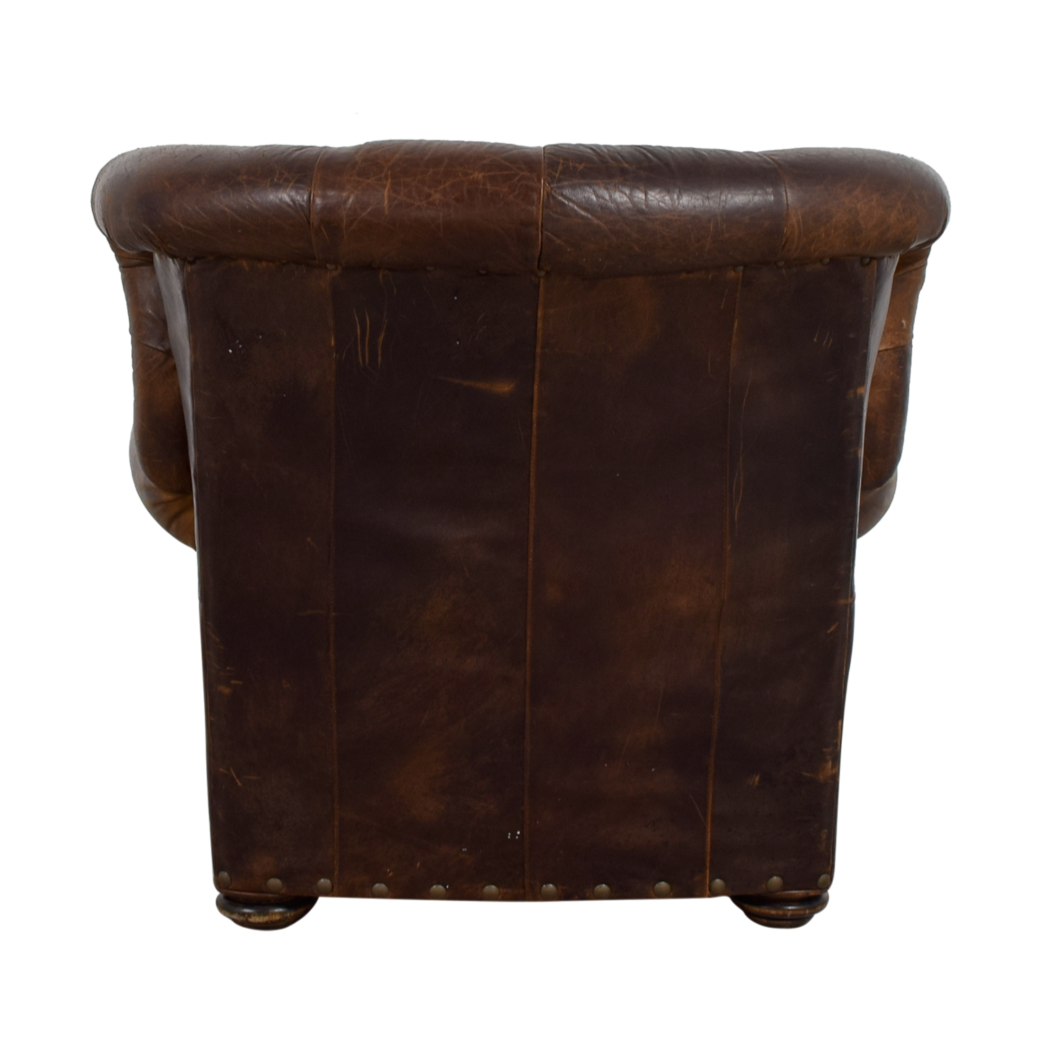 buy Restoration Hardware Brown Leather Accent Chair Restoration Hardware Accent Chairs