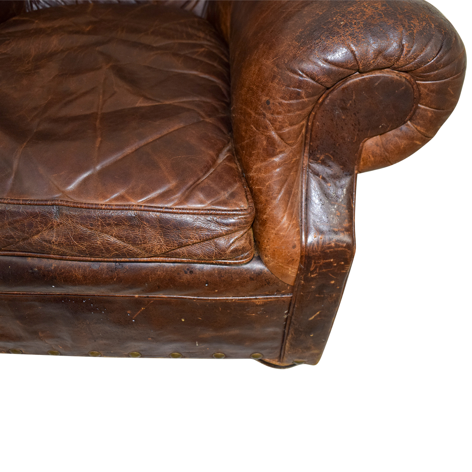Best Selling Jackie Leather Accent Dining Chair Brown: Restoration Hardware Restoration Hardware Brown