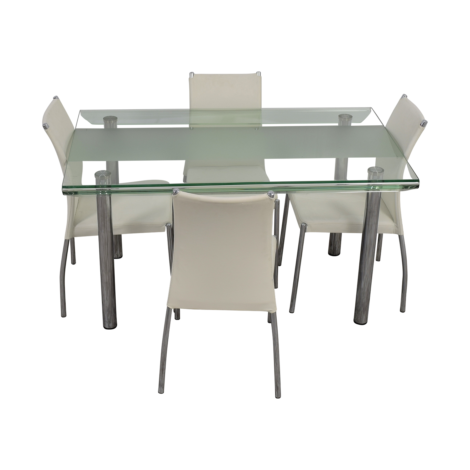 Glass and Chrome Kitchen Dining Set coupon