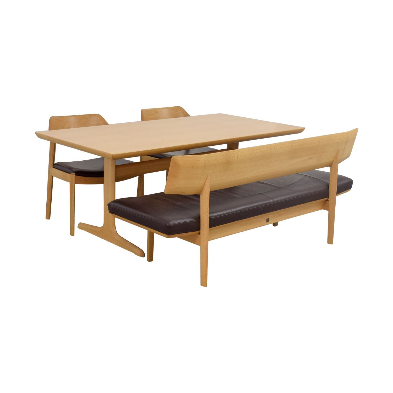 Conde House Conde House Wood Dining Set with Chairs and Bench dimensions
