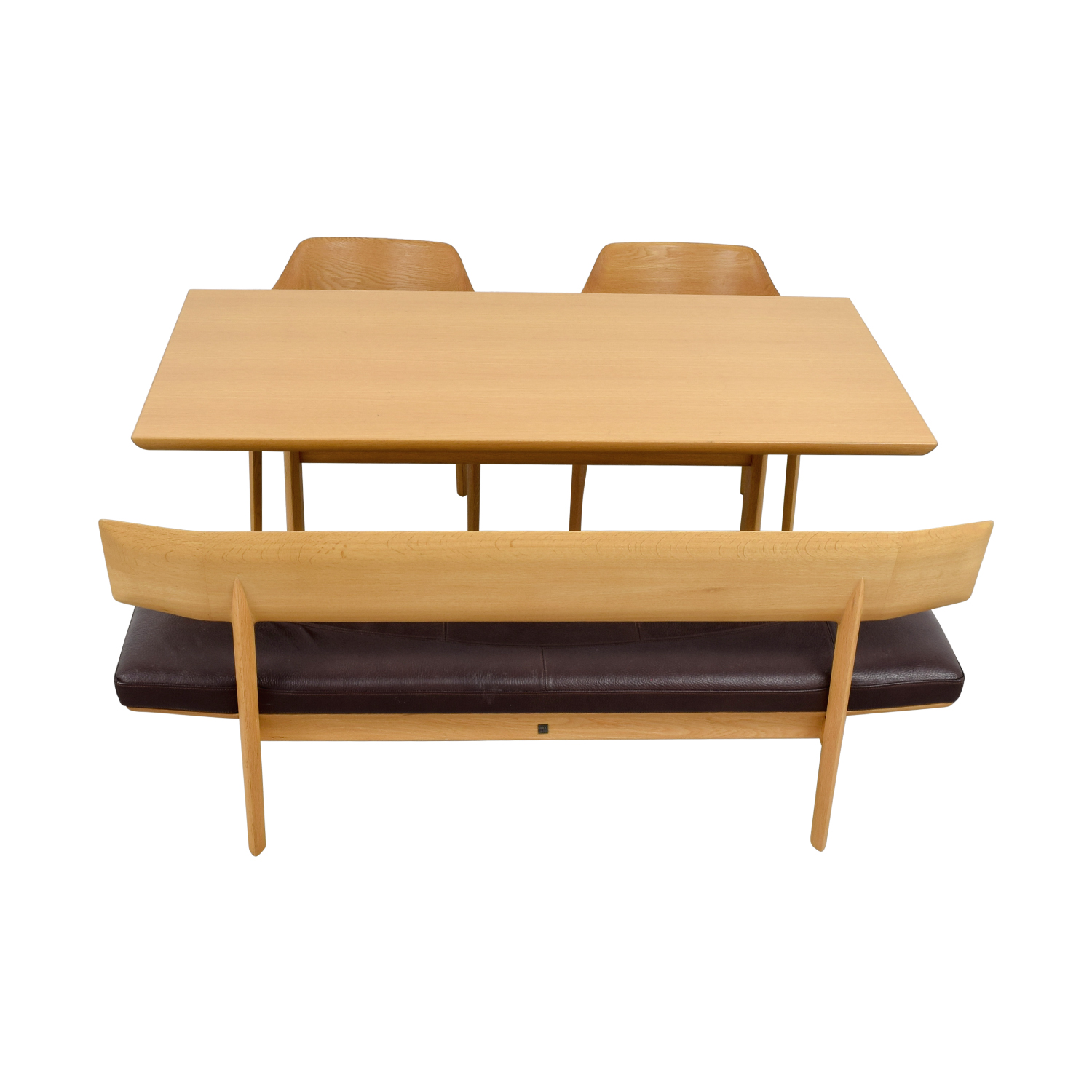 buy Conde House Wood Dining Set with Chairs and Bench Conde House Tables
