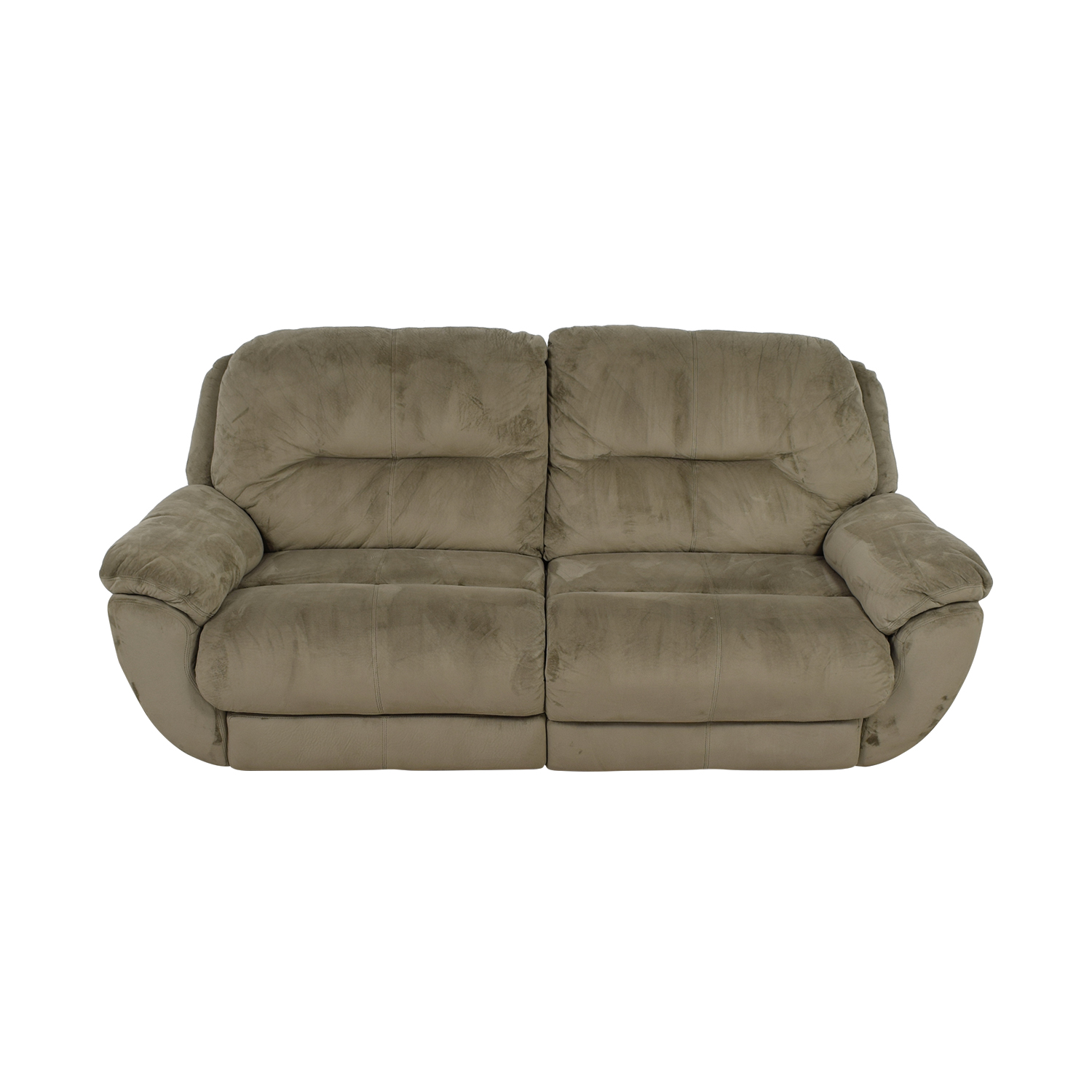 Raymour & Flanigan Raymour & Flanigan Grey Micro-Suede Power Reclining Sofa Chairs
