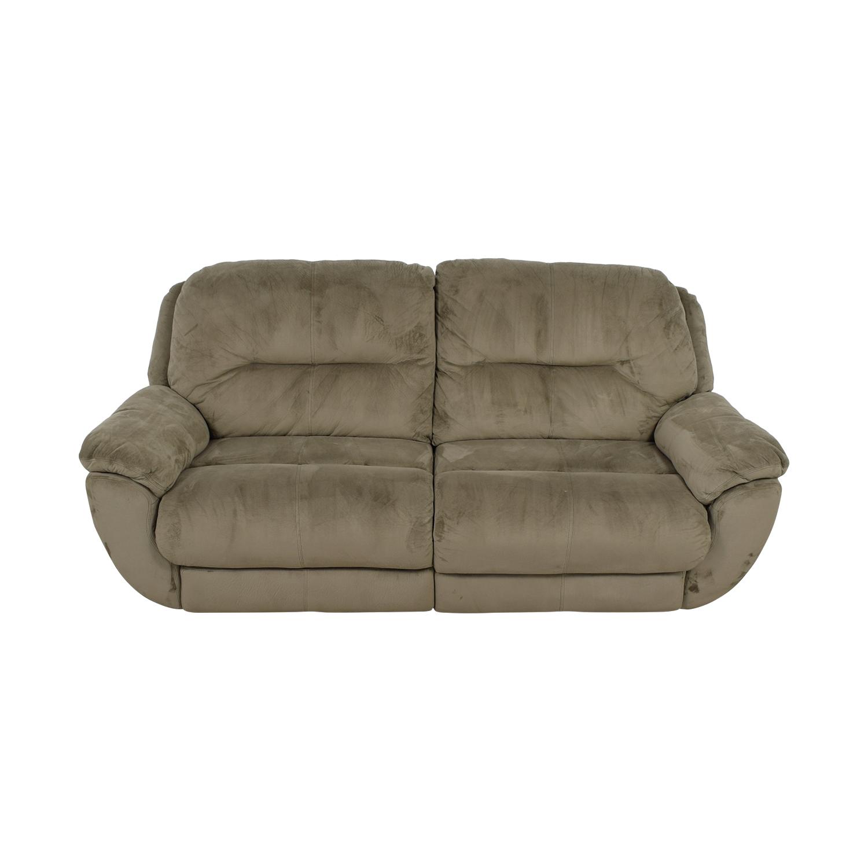 Microsuede Reclining Sofa 86 Off Raymour Flanigan Grey