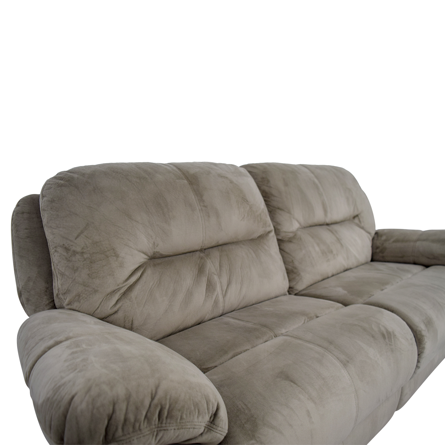 86 Off Raymour Amp Flanigan Raymour Amp Flanigan Grey Micro Suede Power Reclining Sofa Chairs