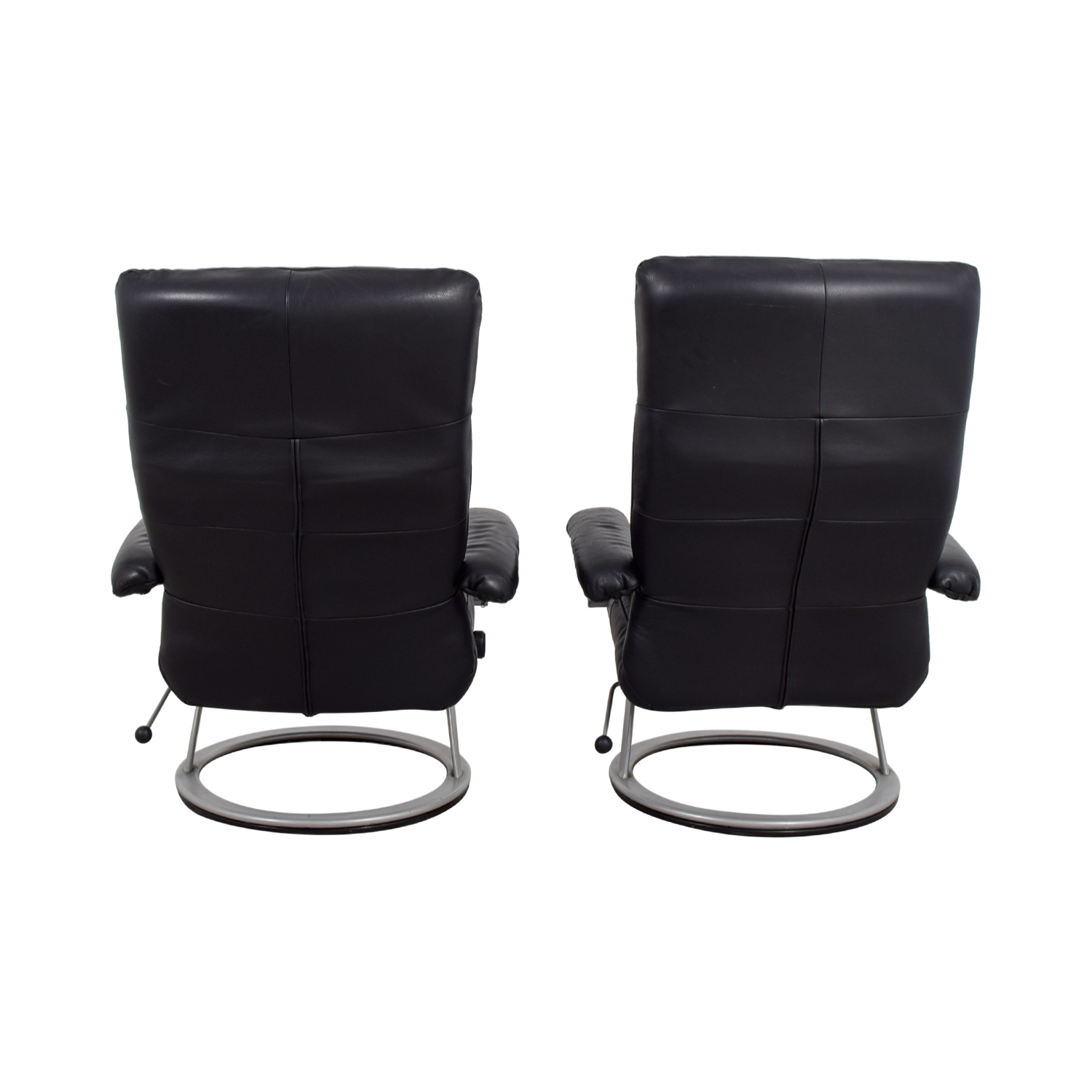 buy Jenson Lewis Black Leather Recliners Jenson Lewis Recliners