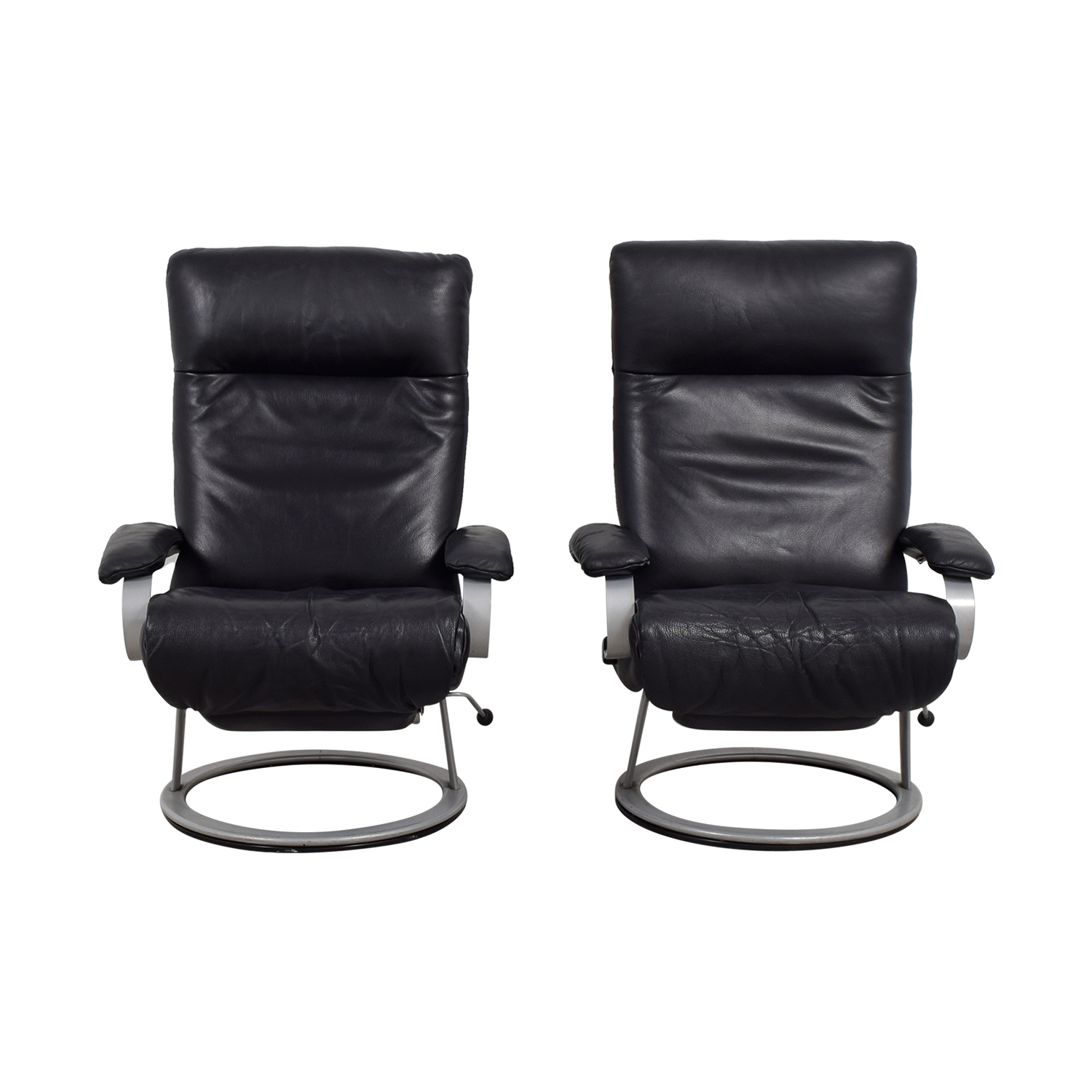 Jenson Lewis Jenson Lewis Black Leather Recliners price
