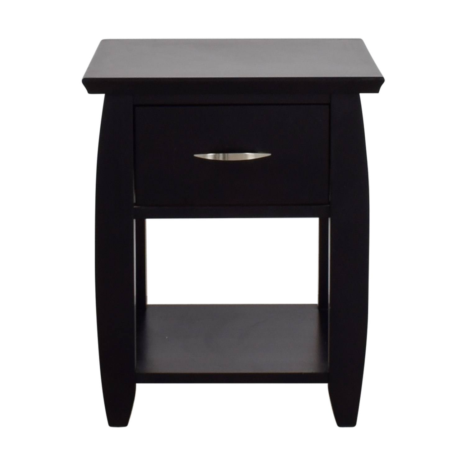 90 Off Door Dark Brown Single Drawer Nightstand Tables