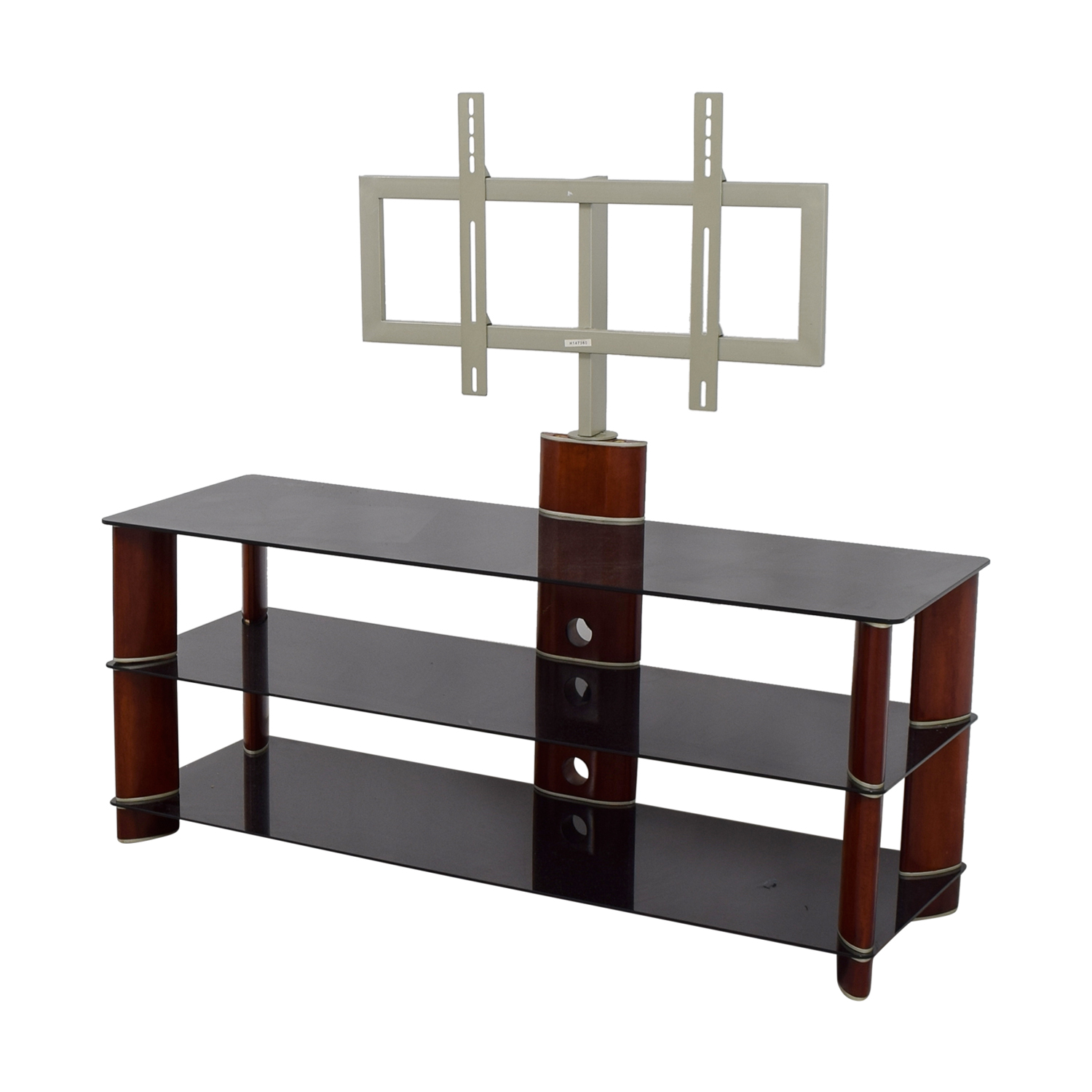 PC Richards PC Richards Tempered Glass TV Stand glass/wood