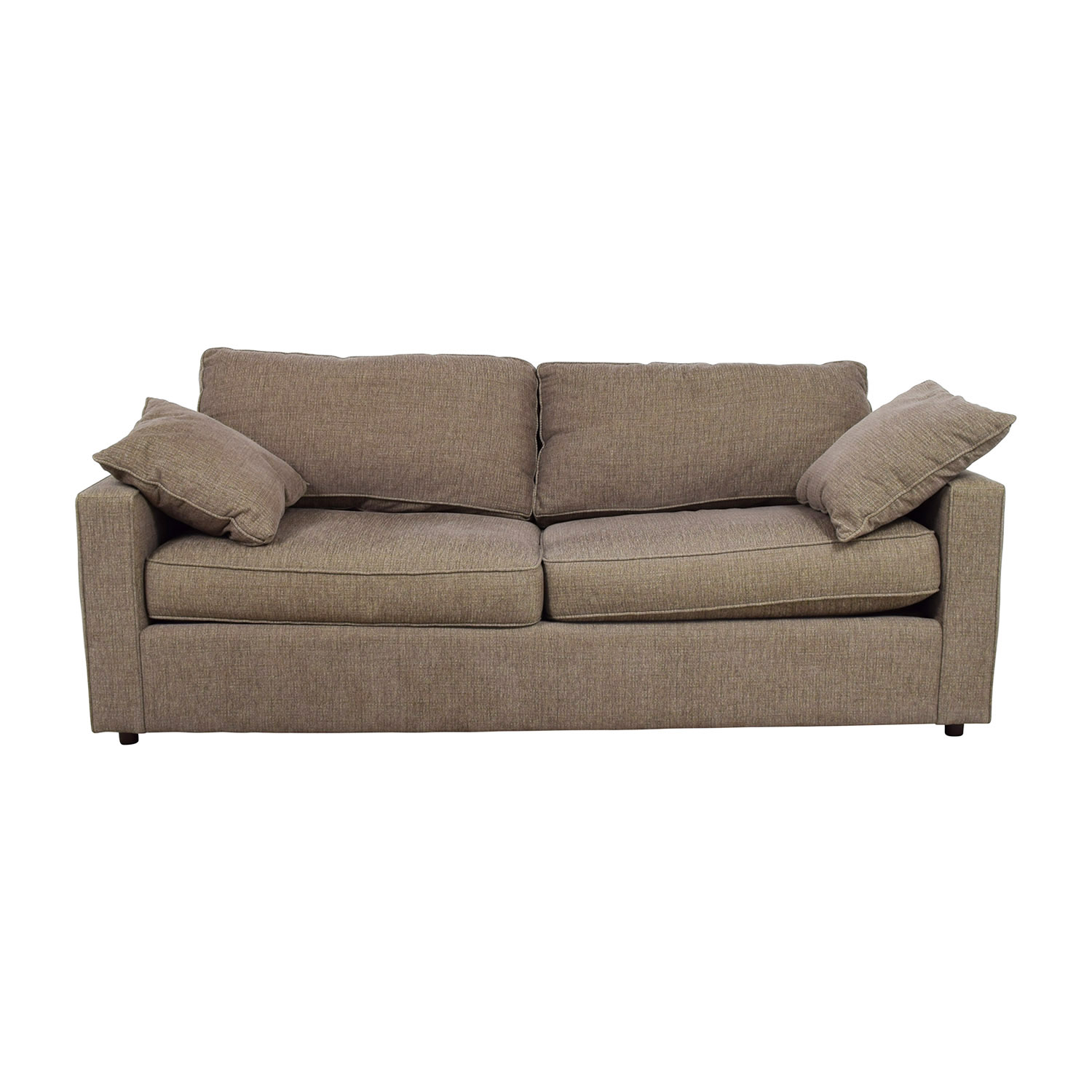 Room & Board Room & Board Brown Two-Cushion Sofa nyc