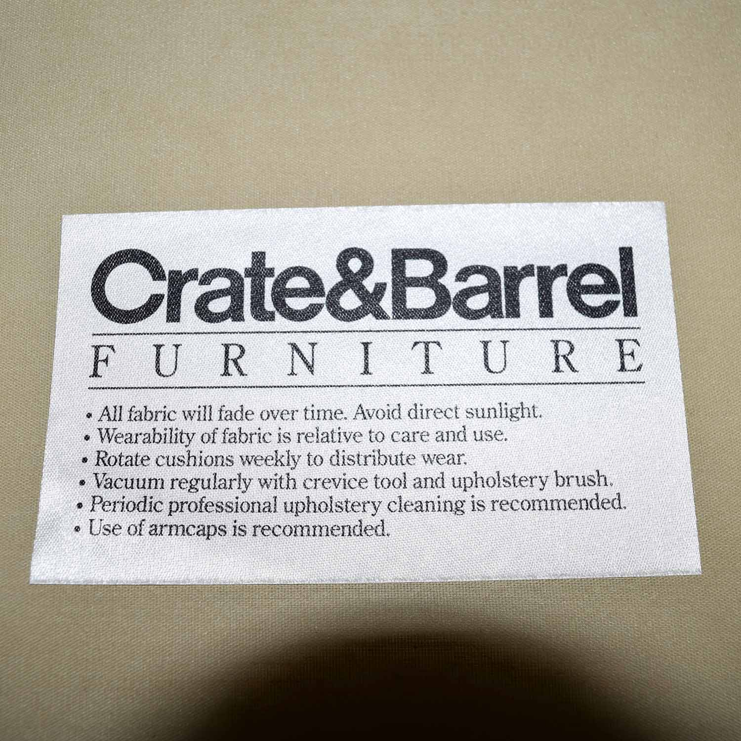 Crate & Barrel Crate & Barrel Rochelle Brown Accent Chair second hand