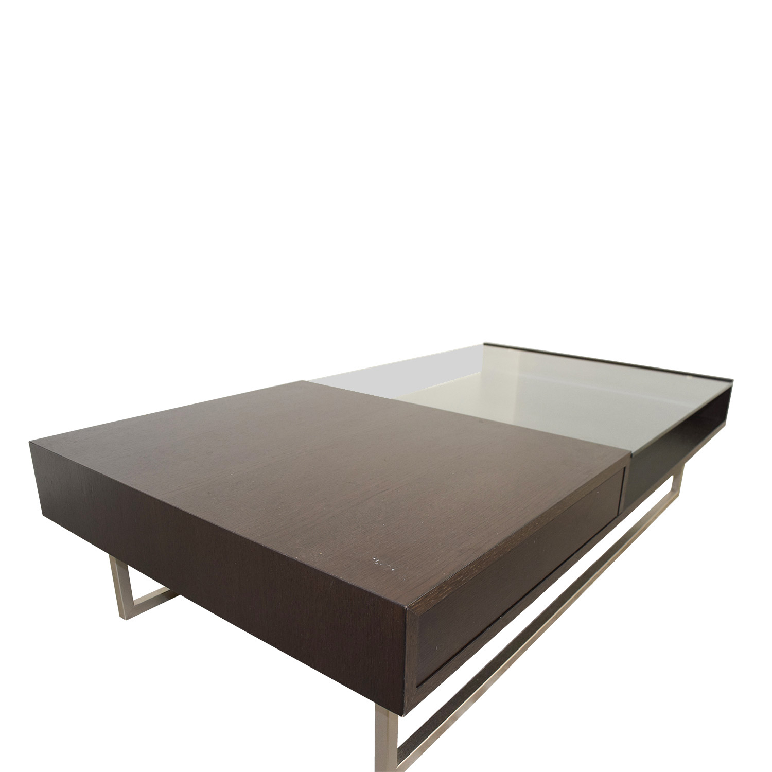 54 off natuzzi italia natuzzi walnut glass coffee table tables Coffee table buy