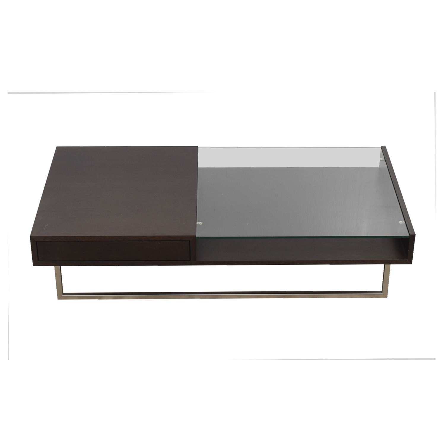 Natuzzi Walnut Glass Coffee Table / Coffee Tables