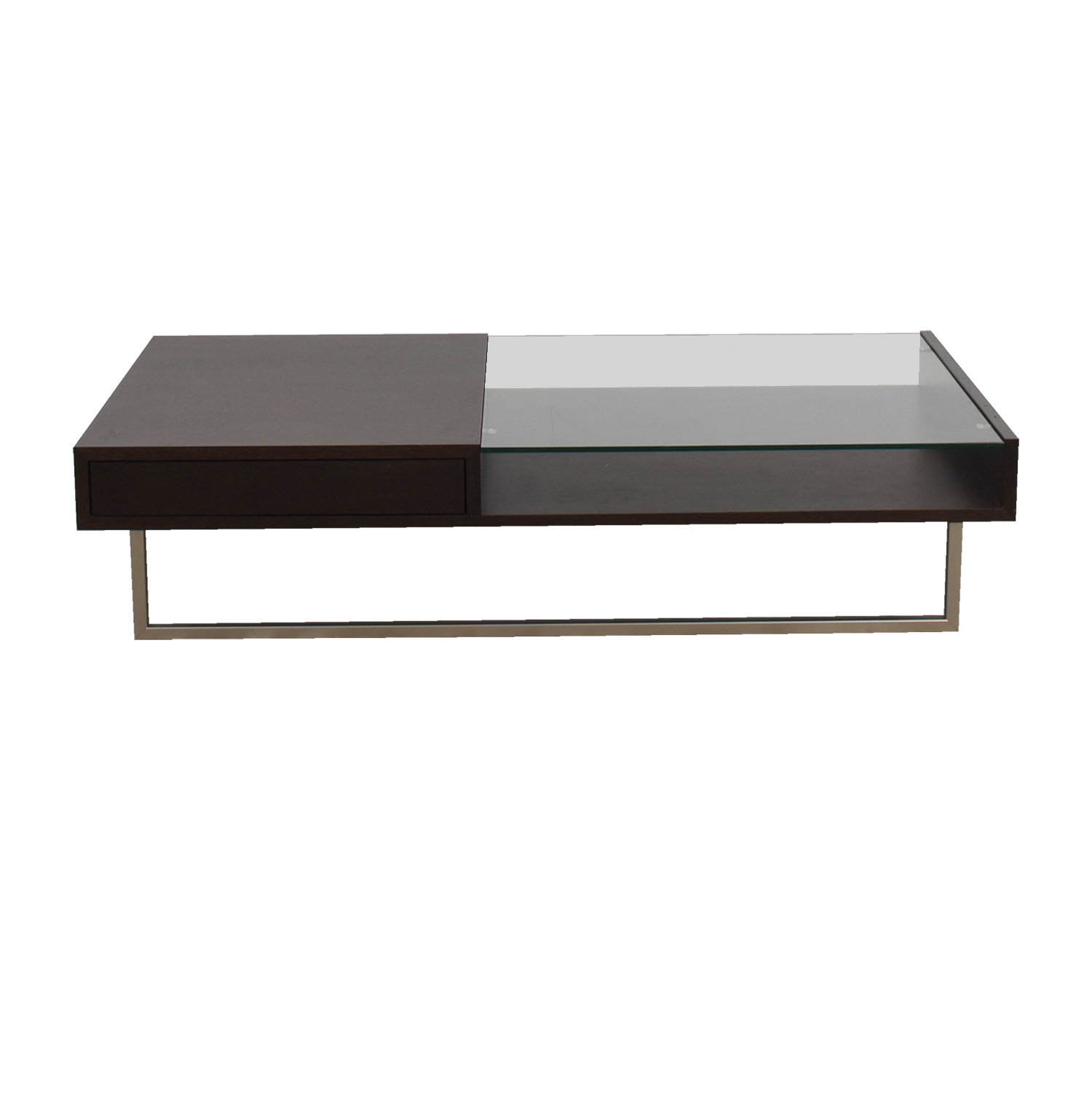 shop Natuzzi Walnut Glass Coffee Table Natuzzi Italia Coffee Tables