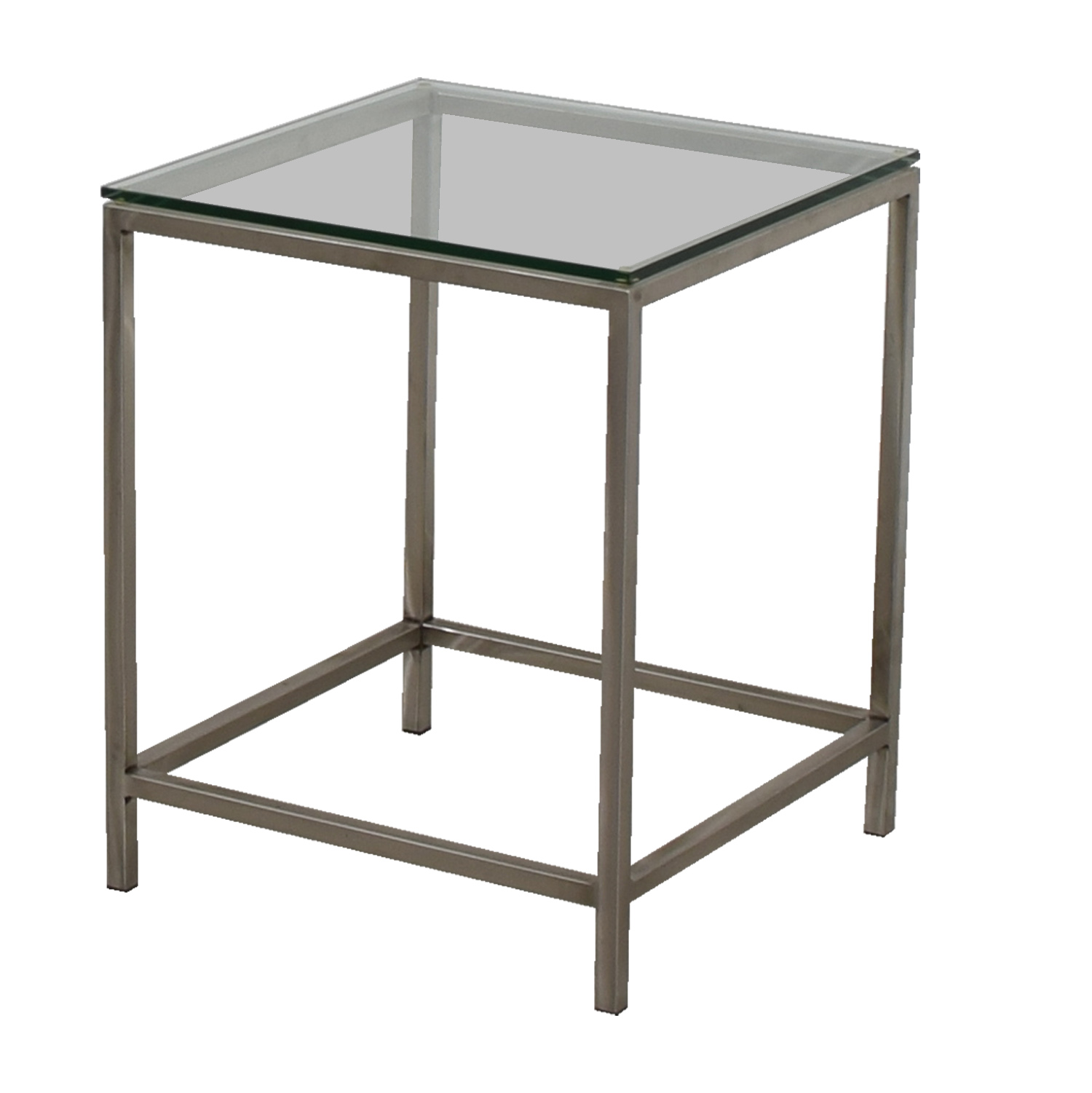 crate and barrel crate and barrel square glass and chrome side table