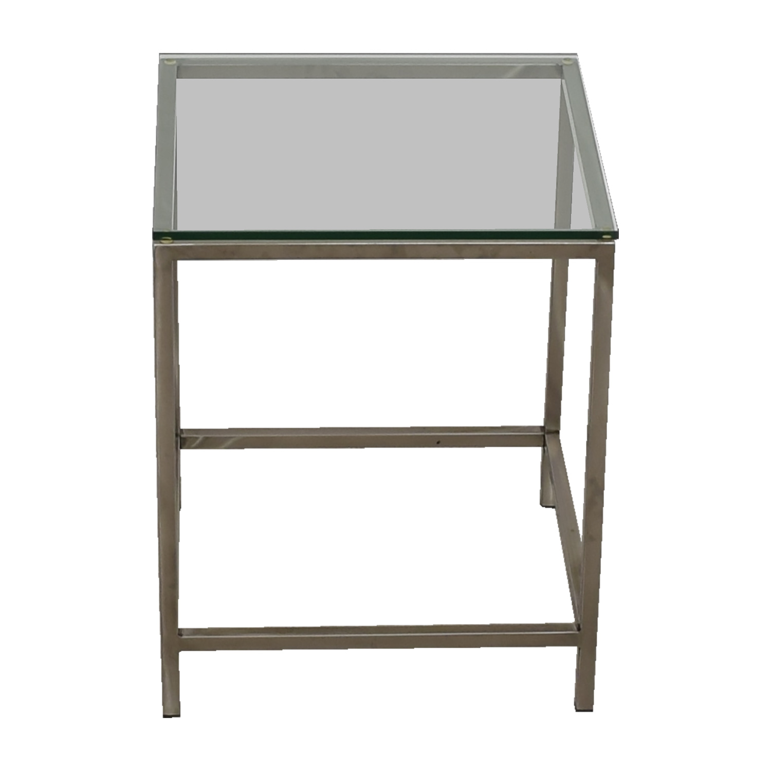 buy Crate & Barrel Square Glass and Chrome Side Table Crate & Barrel End Tables