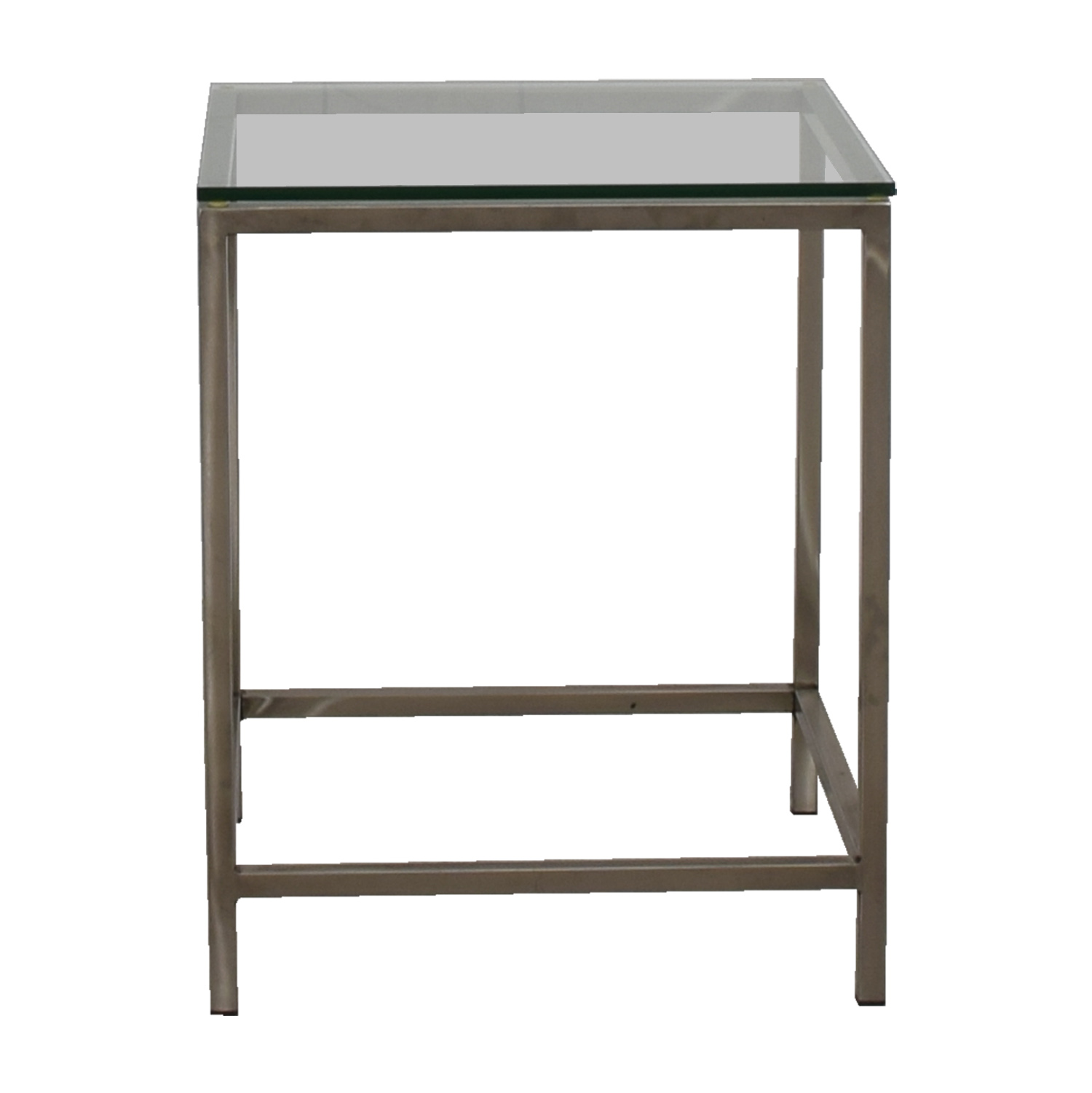 Crate U0026 Barrel Crate U0026 Barrel Square Glass And Chrome Side Table End Tables  ...