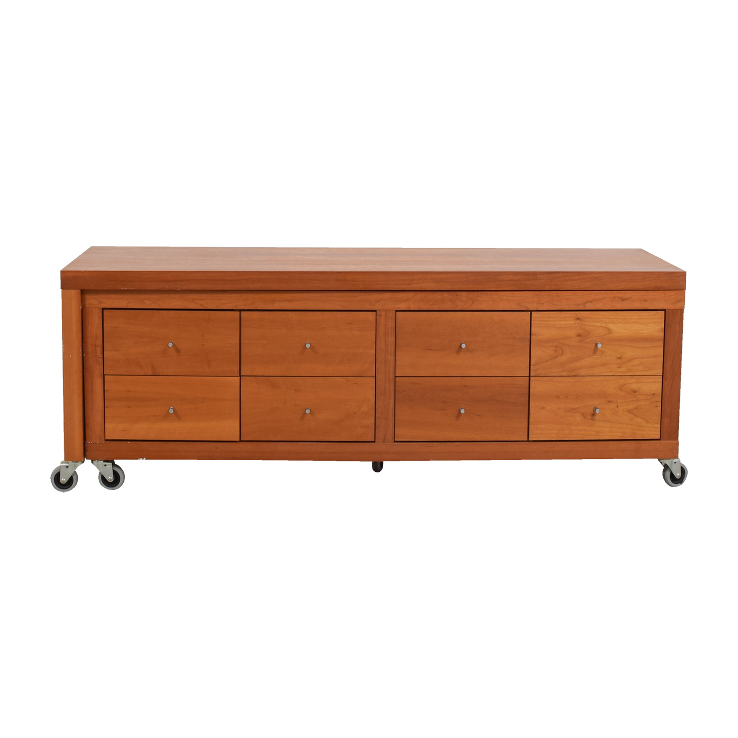 Workbench Eight-Drawer Console Entertainment Center sale