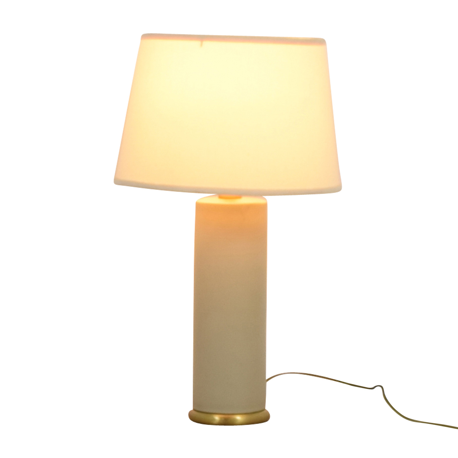 Crate & Barrel Crate & Barrel White and Gold Table Lamp second hand