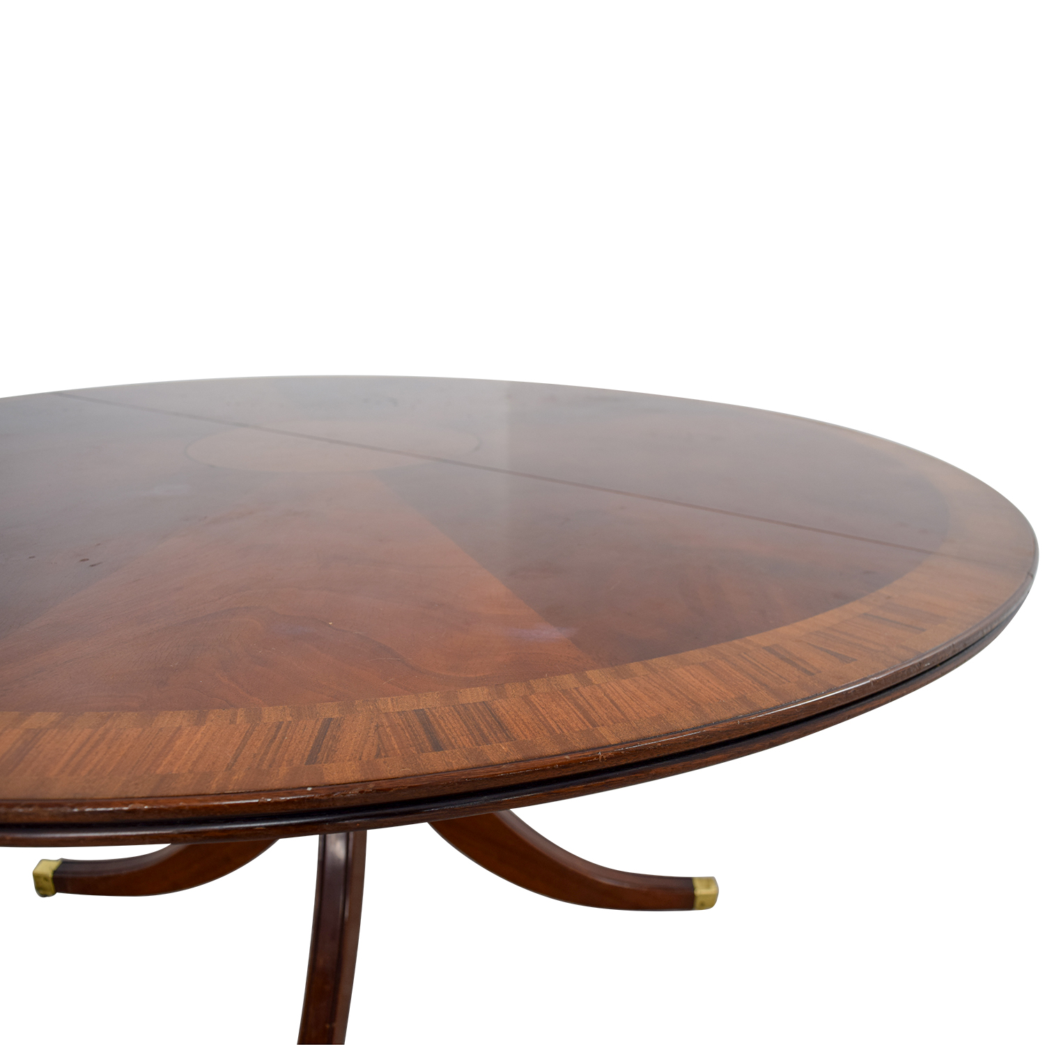 ... Scully U0026 Scully Scully U0026 Scully Mahogany Round Dining Table With  Extension ...