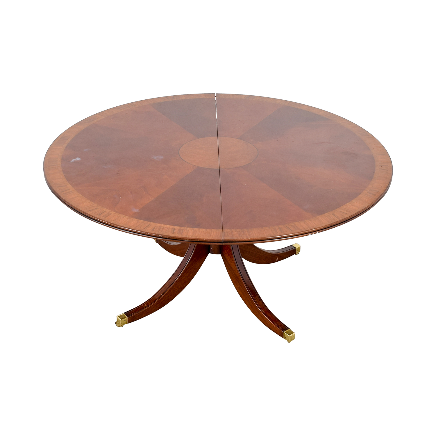 Scully & Scully Scully & Scully Mahogany Round Dining Table with Extension nyc