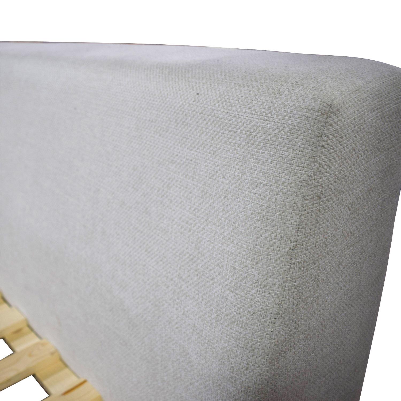 buy Welby Welby Grey Queen Platform Bed Frame online