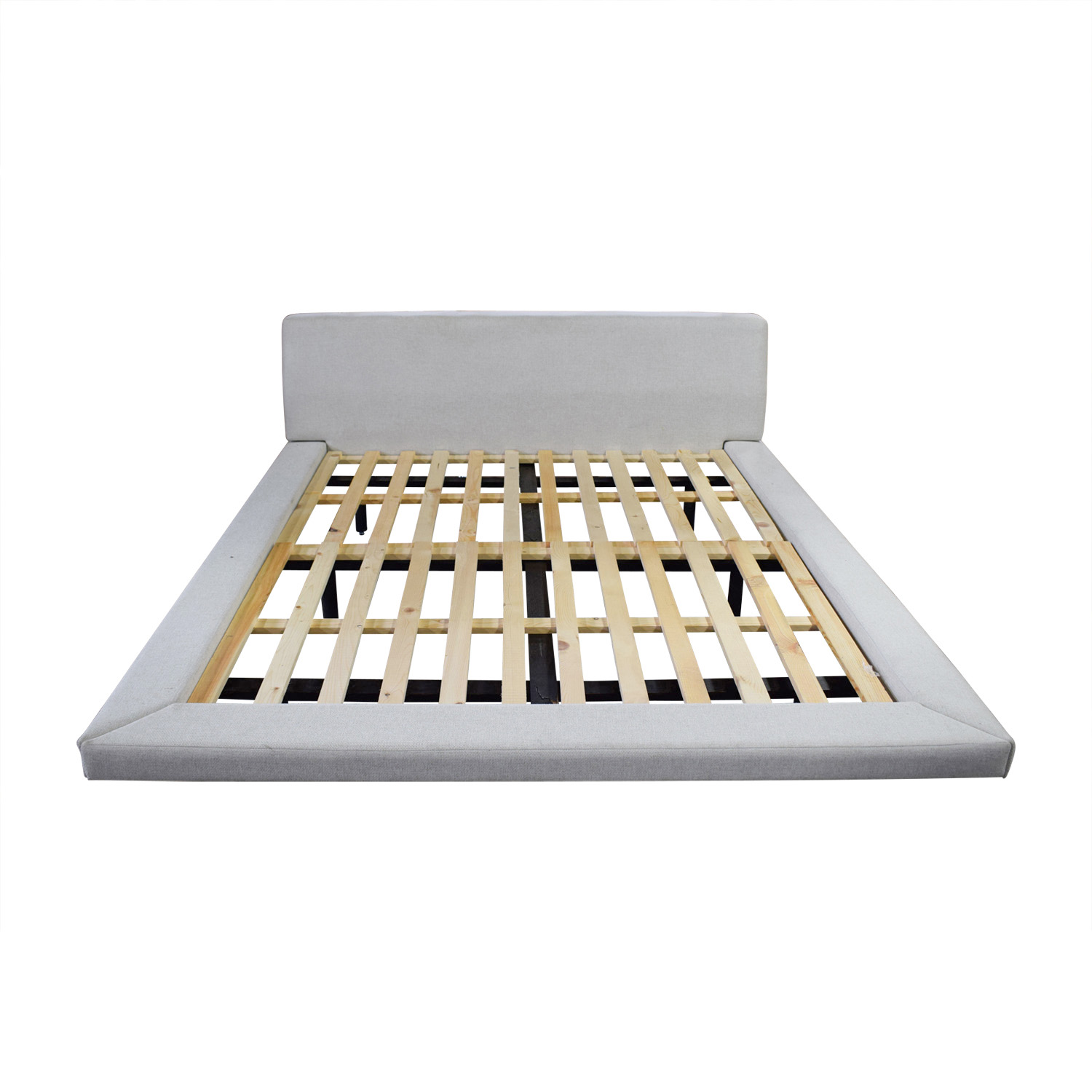 shop Welby Grey Queen Platform Bed Frame Welby Bed Frames