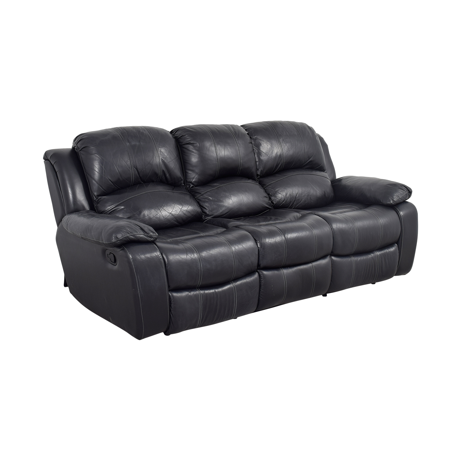 Off Black Leather Reclining Sofa Sofas